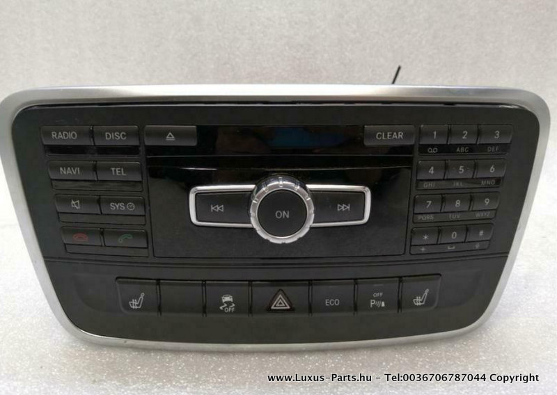 MERCEDES AUDIO 20 W176 CD-lejátszó A2469000212 RADIO NAVI NTG4.5 BASE UNIT